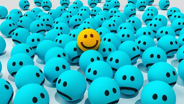šťastný mezi nešťastnými