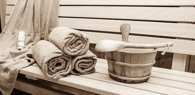 ručníky a sauna