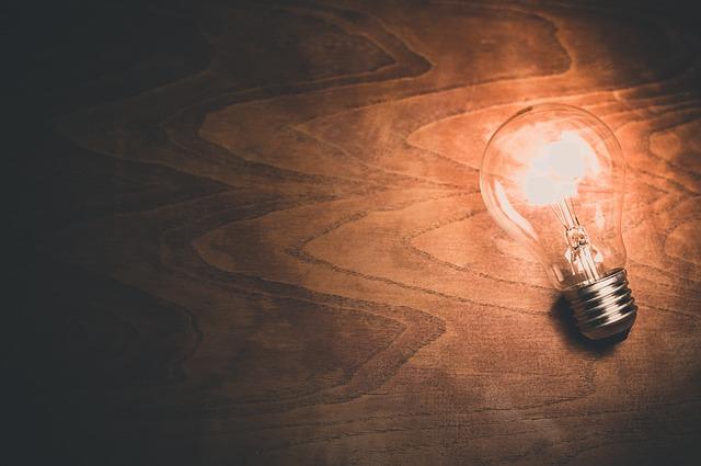žárovka jako nápad