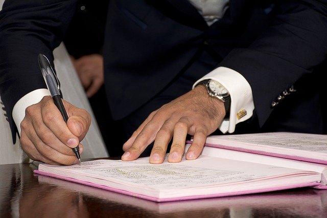 podepsaná dohoda