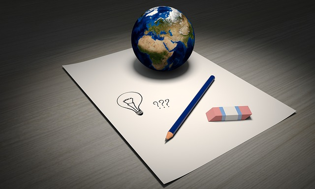 globus na papíře