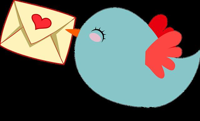 pták nesoucí obálku